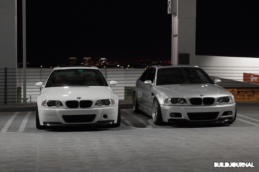 BMW E46 M3 Alpine White and TiAG