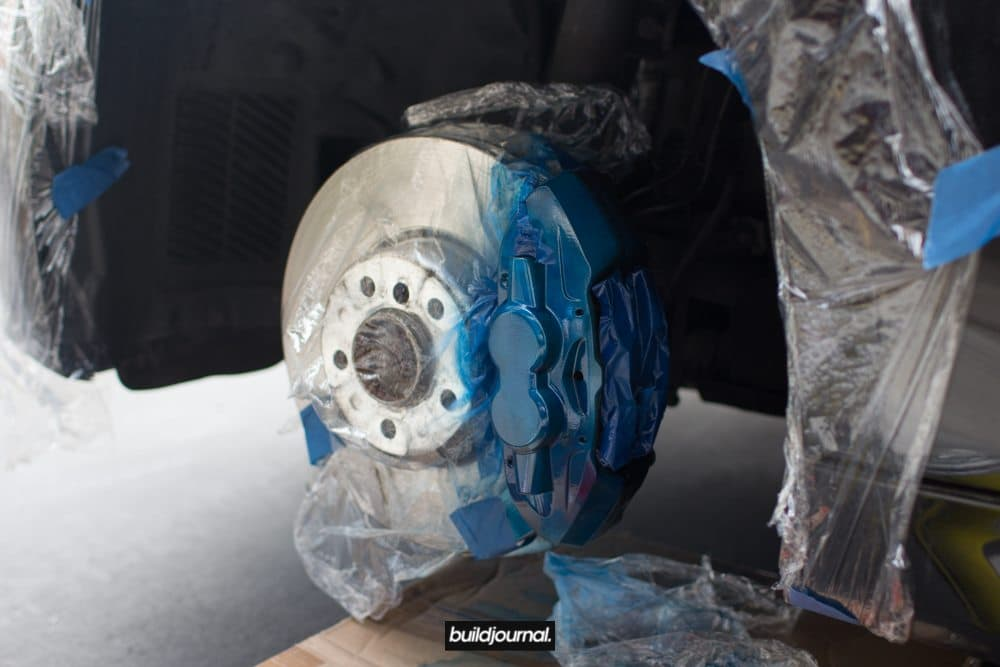 "Brake Caliper Paint DIY to BMW M Sport ""Blue"""