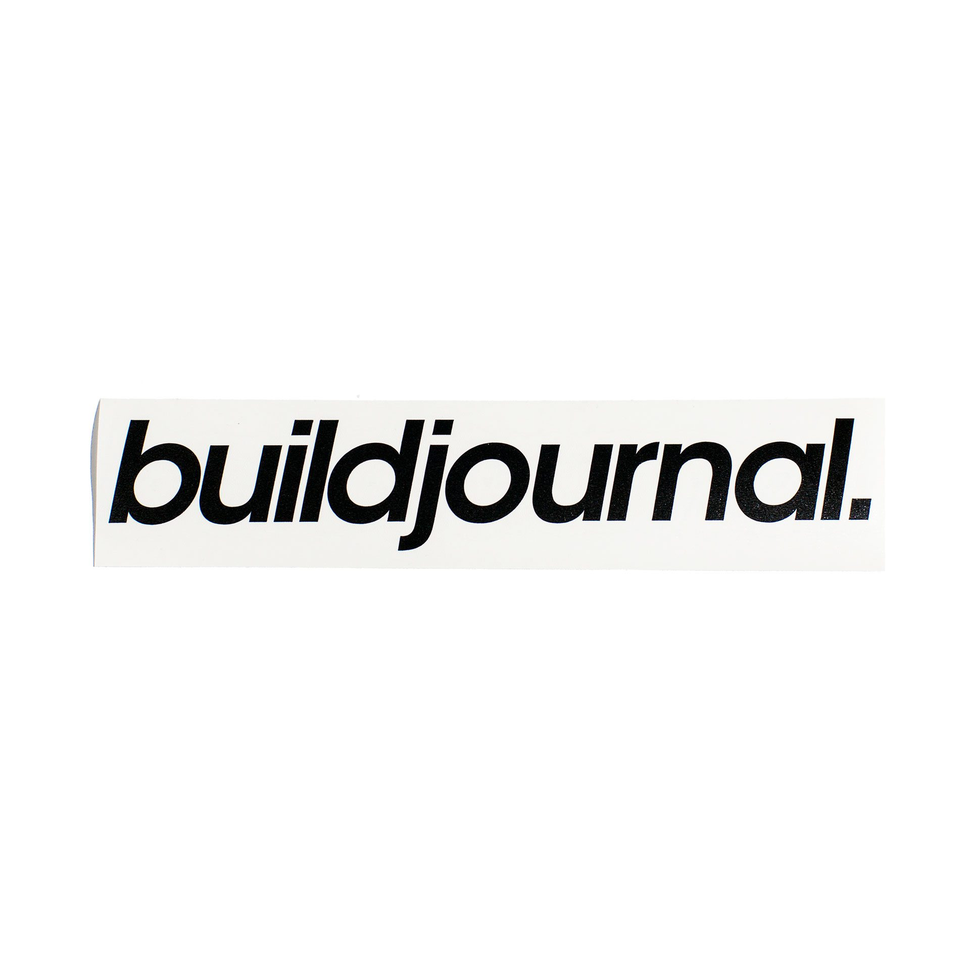 "Buildjournal 8.5"" Die Cut Sticker White"