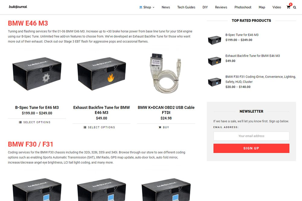 Buildjournal Tuning Labs Store