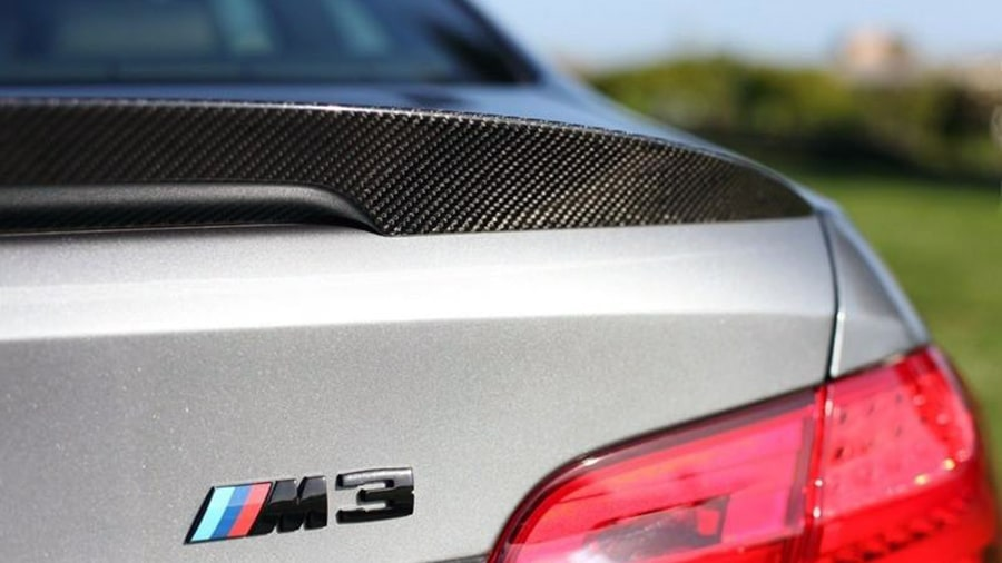 BMW E92 M3 M Performance Style Carbon Fiber Trunk Lip