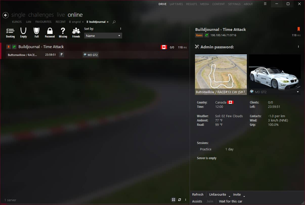 Buildjournal Virtual Time Attack Challenge